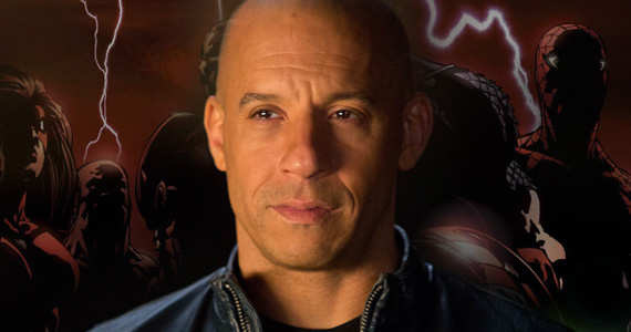 Vin Diesel Marvel Studios Meeting Comic Con 2013: Vin Diesel Teases Big Marvel Movie Announcement