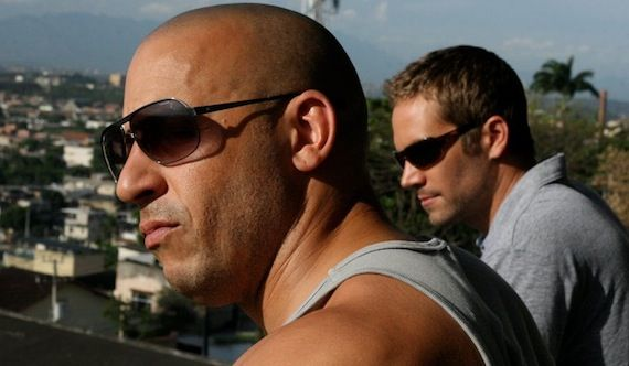 Vin Diesel and Paul Walker Fast Five trailer Fast Five Trailer Races Onto Facebook