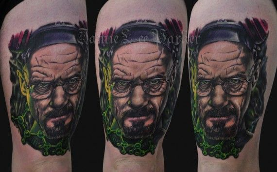 Walter White Heisenberg Breaking Bad Tattoo 570x355 Walter White Heisenberg Breaking Bad Tattoo