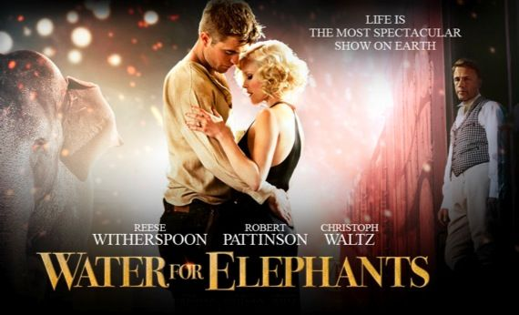 Water for Elephants movie poster Water for Elephants International Trailer Offers Circus Romance