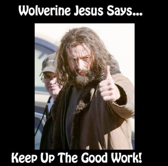 Wolverine Jesus 570x561 SR Geek Picks: Dark Knight Binges Trailer, Nightwing Rises and Thor 2 Fan Posters & More!