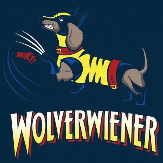 Wolverwiener T Shirt 570x570 SR Geek Picks: Time Travel Movie Flowchart, Star Trek Into Dumbness, Tomb Raider Evolution & More