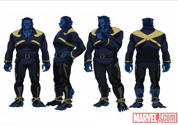 X Men Anime Beast Concept Art X Men Anime Beast Concept Art