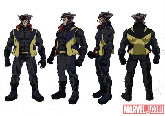 X Men Anime Wolverine Concept Art X Men Anime Wolverine Concept Art