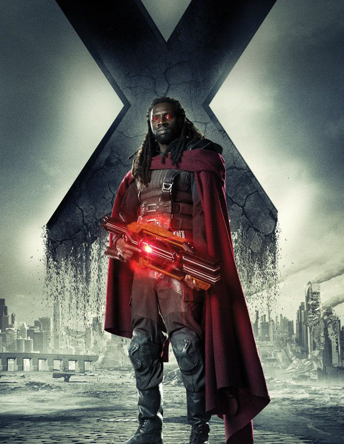 X Men Days of Future Past Character Poster Bishop X Men: Days of Future Past Box Office Forecast and Character Art