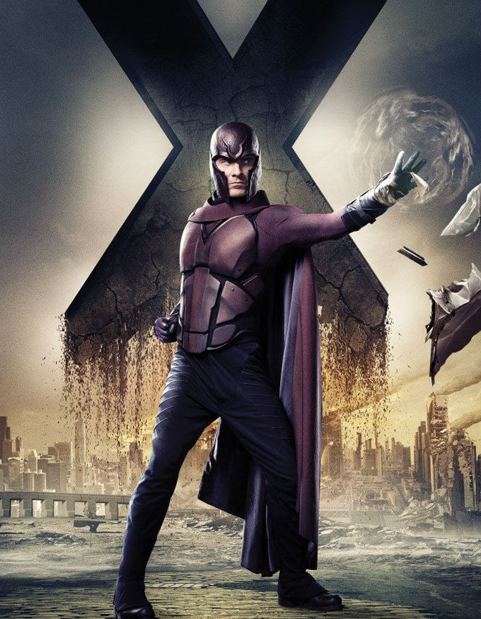 X Men Days of Future Past Character Poster Erik Lehnsherr X Men: Days of Future Past Box Office Forecast and Character Art