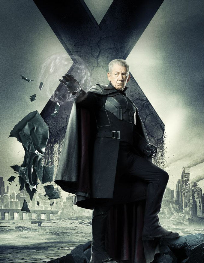 X Men Days of Future Past Character Poster Magneto X Men: Days of Future Past Box Office Forecast and Character Art