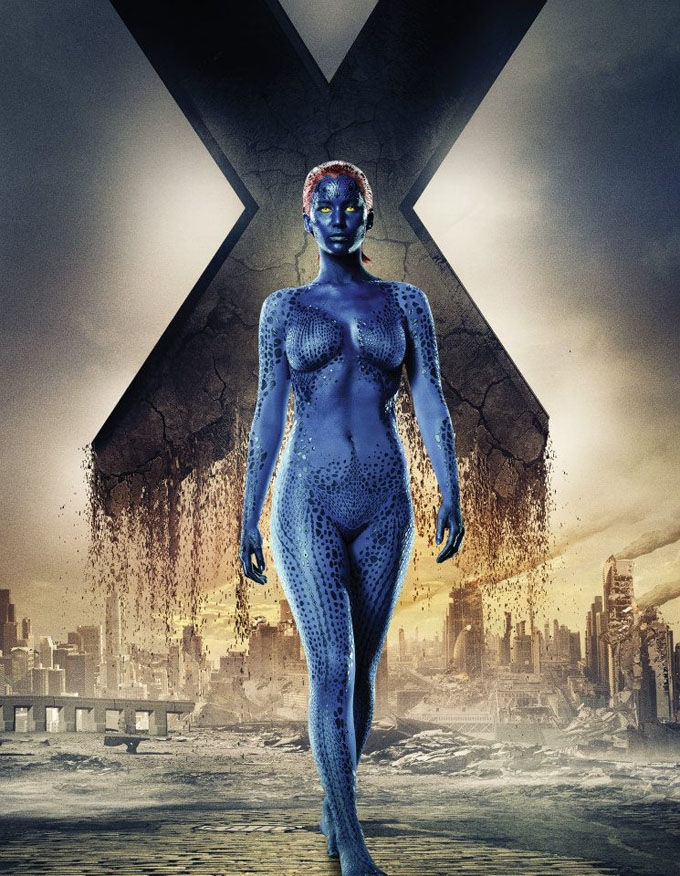 X Men Days of Future Past Character Poster Mystique X Men: Days of Future Past Box Office Forecast and Character Art