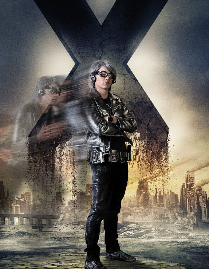 X Men Days of Future Past Character Poster Quicksilver X Men: Days of Future Past Box Office Forecast and Character Art