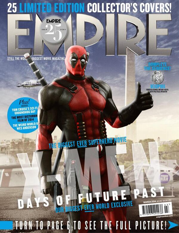 X Men Days of Future Past Empire Cover 26 Deadpool Hugh Jackman Wants Another Stab At Wolverine Fighting Deadpool