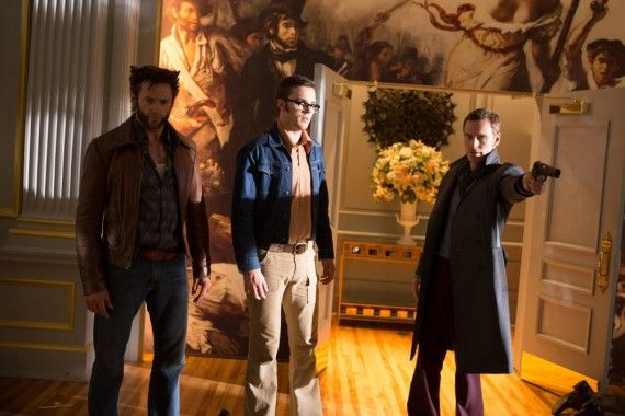 X Men Days of Future Past Hugh Jackman Michael Fassbender Nicholas Hoult 70s 570x380 X Men Days of Future Past Hugh Jackman Michael Fassbender Nicholas Hoult 70s