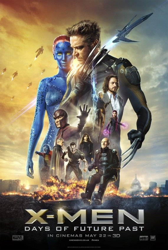 X Men Days of Future Past Poster High Res 570x844 X Men: Days of Future Past Trailer #2: The Greatest Battle Begins