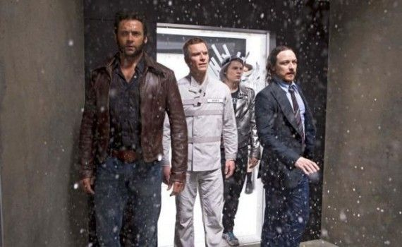 X Men Days of Future Past Quicksilver Magneto Proffesor Xavier and Wolverine 570x350 X Men: Days of Future Past Images: Quicksilvers Powers & Wolverine vs. Beast