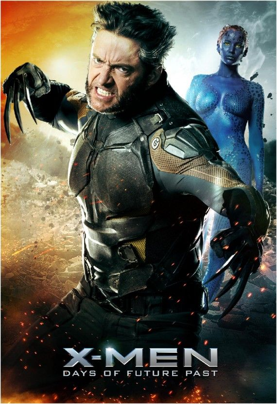 X Men Days of Future Past Wolverine and Mystique poster 570x829 X Men: Days of Future Past Reveals Nine Very Dramatic New Posters