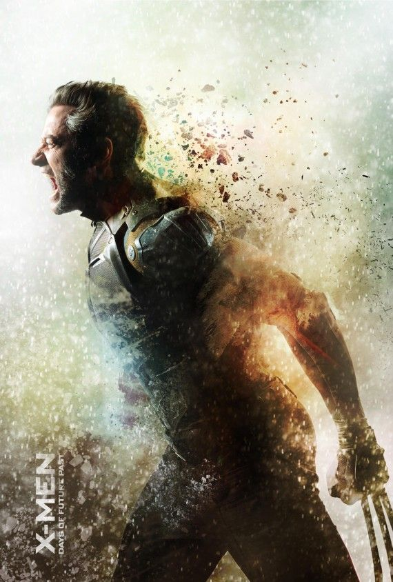 X Men Days of Future Past Wolverine poster 570x844 X Men: Days of Future Past Reveals Nine Very Dramatic New Posters