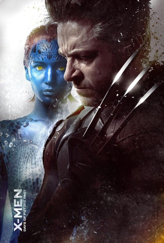 X Men Days of Future Past poster Wolverine and Mystique 570x844 X Men: Days of Future Past Reveals Nine Very Dramatic New Posters
