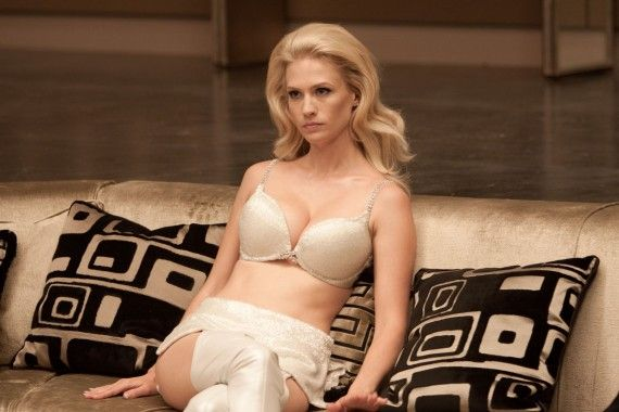 X Men Emma Frost Lingerie High Res 570x380 January Jones Emma Frost Lingerie Costume in X Men: First Class
