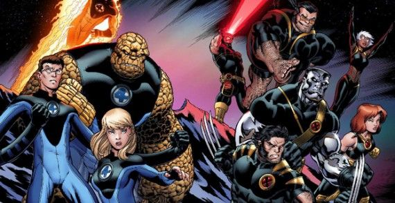 X Men Fantastic Four Universes 570x294 Jurassic World, Terminator: Genesis & Fantastic Four Start Dates Revealed