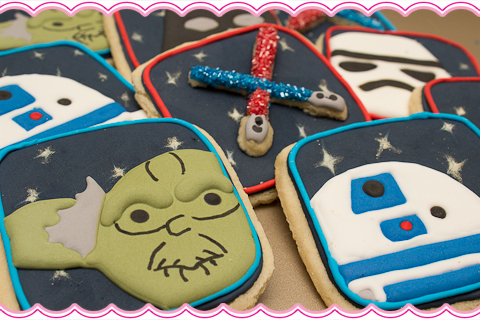 Yoda R2D2 Star Wars Cookies Yoda & R2D2 Star Wars Cookies