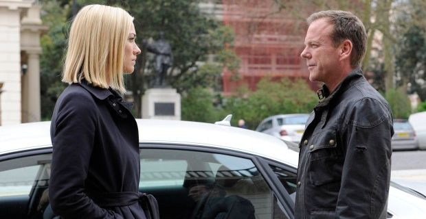 Yvonne Strahovski and Kiefer Sutherland in 24LAD Episode 6 24: Live Another Day : Lets Twist Again