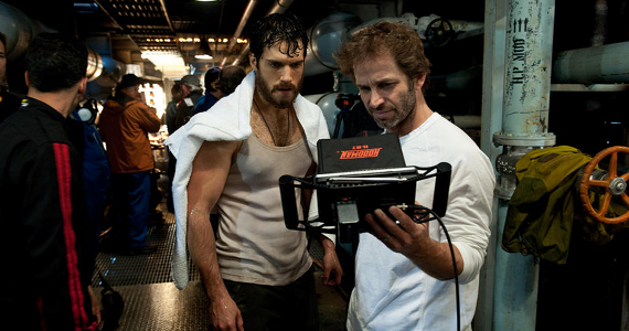 Zack Snyder with Henry Cavill on set of Man of Steel Zack Snyder Talks Man of Steel 2; Hints at Lex Luthor and Kryptonite in the Future