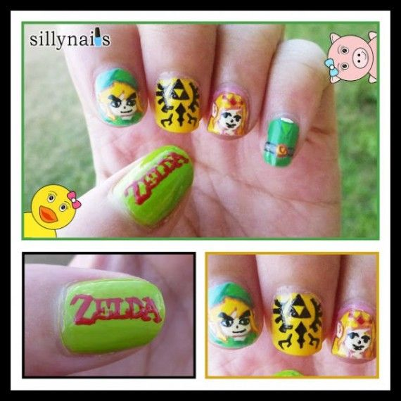 Zelda Nails 570x570 SR Geek Picks: Toy Story as The Shining, Best and Worst Superheroes, Hipster DC Girls & More