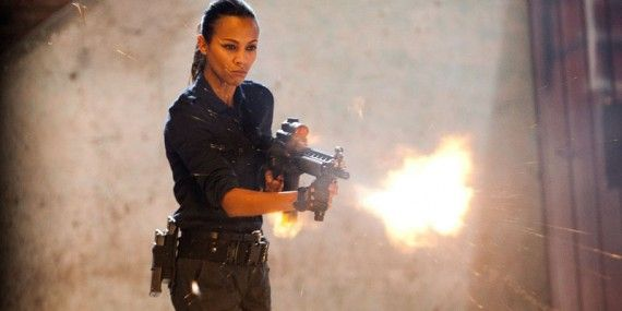 Zoe Saldana Columbia Shooting 570x285 Zoe Saldana May Play Gamora in Guardians of the Galaxy