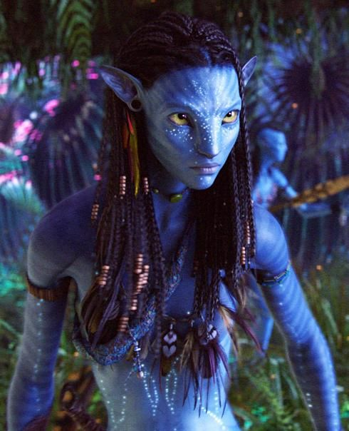 ZoeSaldanaNeytiri Zoe Saldana Talks Star Trek, Avatar & The Losers