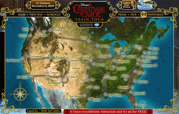 a christmas carol train map All A Bored Disney's A Christmas Carol Train Tour