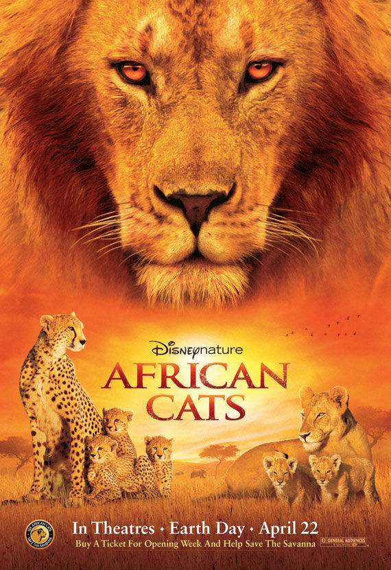 african cats movie poster Movie Poster Roundup: Thor, Pirates of the Caribbean 4, Your Highness & More