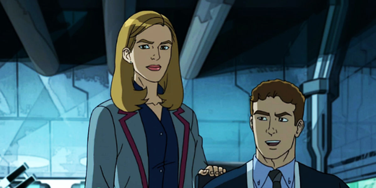 Fitz and Simmons in a Spider-Man show
