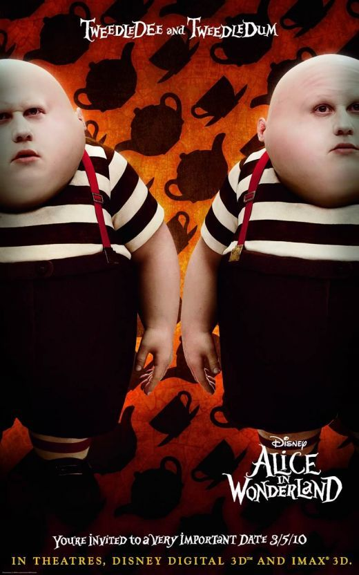alice in wonderland character poster5 Alice In Wonderland Teaser Trailer Online! (Plus New Posters)