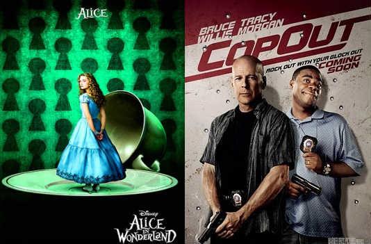 alice in wonderland cop out clips New Alice In Wonderland & Cop Out Clips