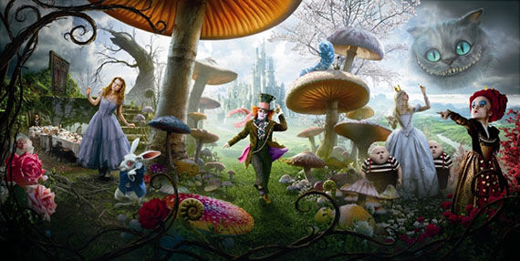 alice in wonderland full banner Poster Friday: Avatar, Kick Ass, Lost, Salt & More!