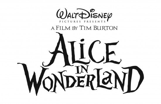 alice in wonderland logo Tim Burton To Premiere Wonderland At Comic Con