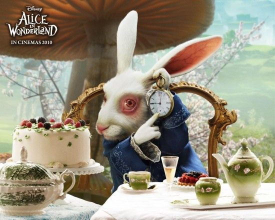 alice in wonderland white rabbit Alice In Wonderland: New Character Images & Banner