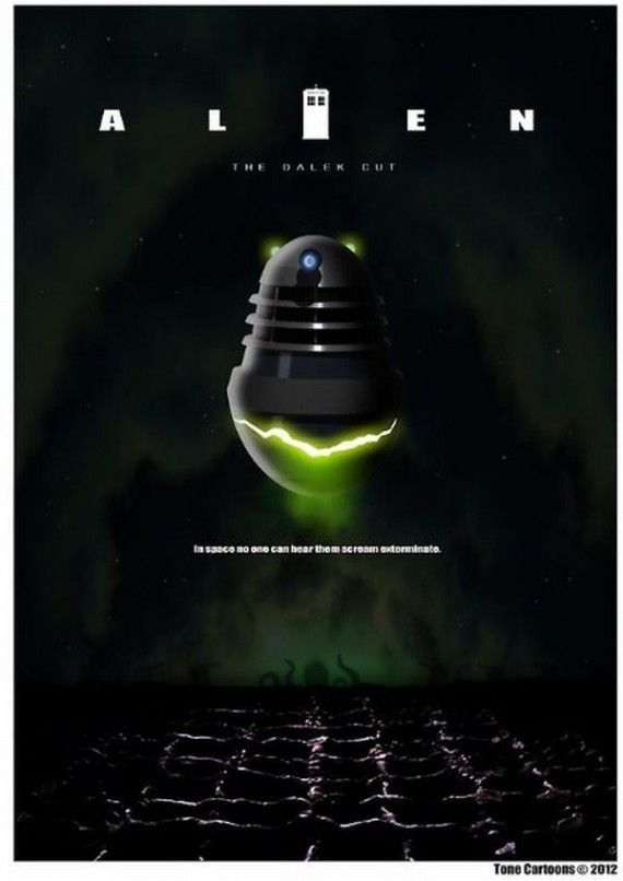 alien dalek 570x806 SR Geek Picks: Fresh Prince & Carlton Dance Reunion, The Truth Behind Disney Movies & More!