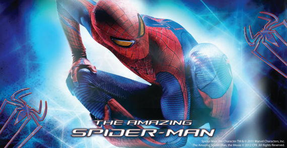 amazing spider man banner 1 570x294 The Amazing Spider Man International Banners Are Bright & Flashy