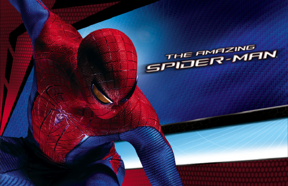 amazing spider man banner 2 570x368 The Amazing Spider Man International Banners Are Bright & Flashy