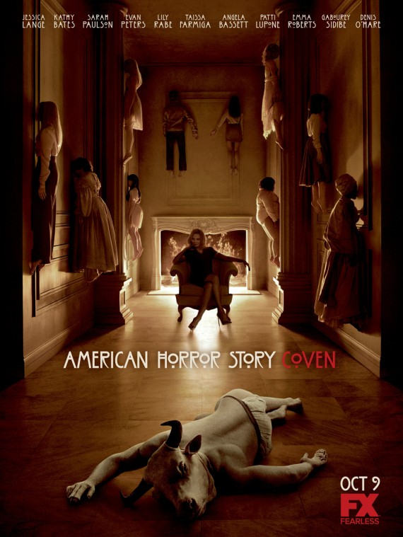 american horror story coven poster2 570x759 New American Horror Story: Coven Trailer & Poster: Witches Fight or They Burn