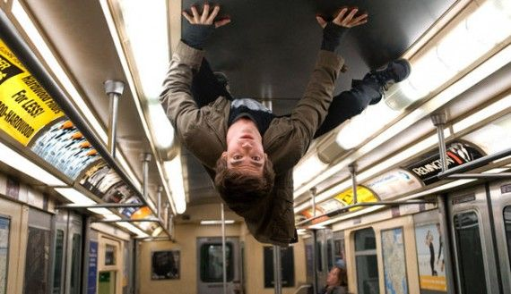 andrew garfield subway spider man 570x329 Changing Face: Diversity & Change in Comic Books and Superhero Movies
