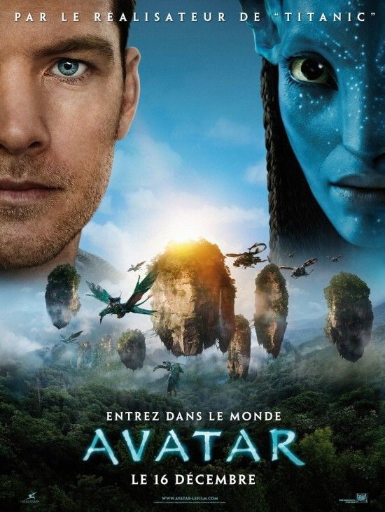 avatar french poster sam worthington zoe saldana Poster Friday: Avatar, Kick Ass, Lost, Salt & More!