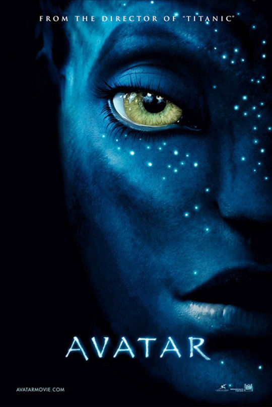 avatar new poster New Avatar Poster: Zoe Saldana Beautiful in Blue