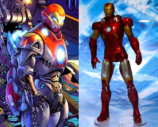 Ultimate Iron Man and Iron Man from the Avengers