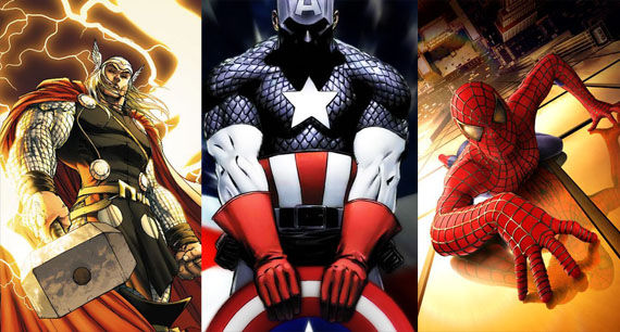 avengers thor cap spidey Marvel Pushes Back Release Dates, Spider Man 4 Date Announced