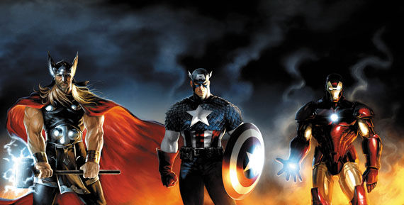 avengers thor captain america iron man Marvel Movie Updates: Iron Man 2, Thor & Captain America