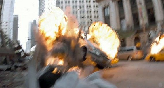 avengers trailer057 570x306 An explosion in a scene from The Avengers