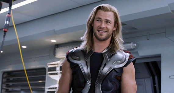 avengers trailer079 570x306 Chris Hemsworth as Thor in a lighthearted moment in The Avengers