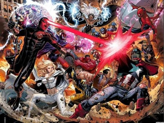 avengers vs x men wallpaper 570x427 Marvel Crossover Movies Likely But Not Anytime Soon