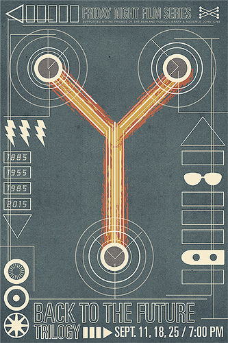 back to the future poster SR Pick: Cool Retro Movie Posters from Brandon Schaefer